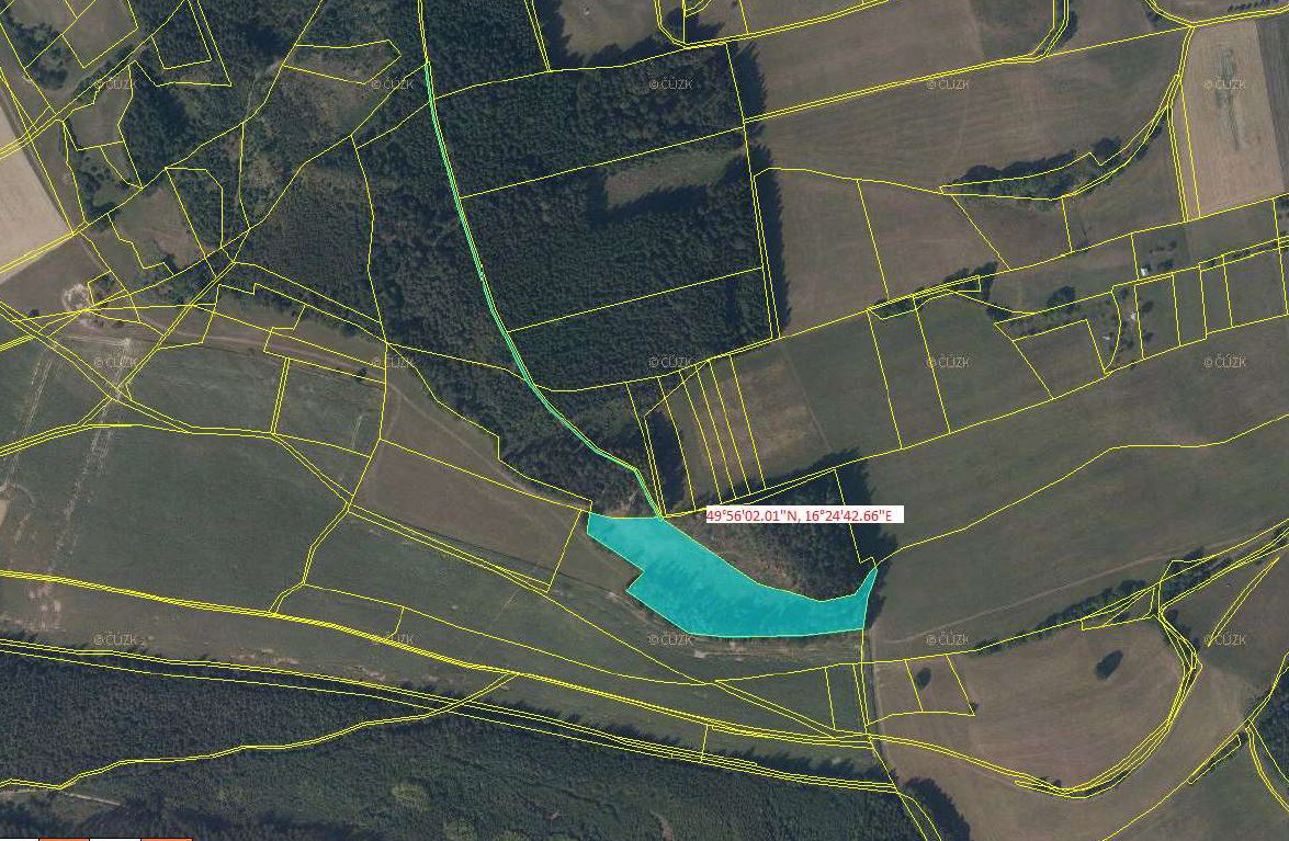 EXE_Pozemky (výměra 16.310 m2) v obci Dlouhá